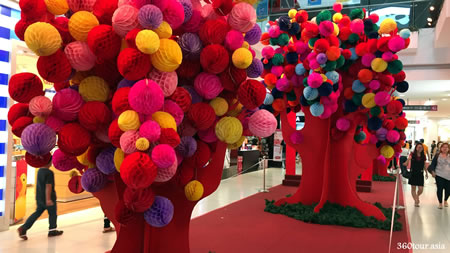 2017 Chinese New Year Decorations at The Spring Shopping Mall Kuching