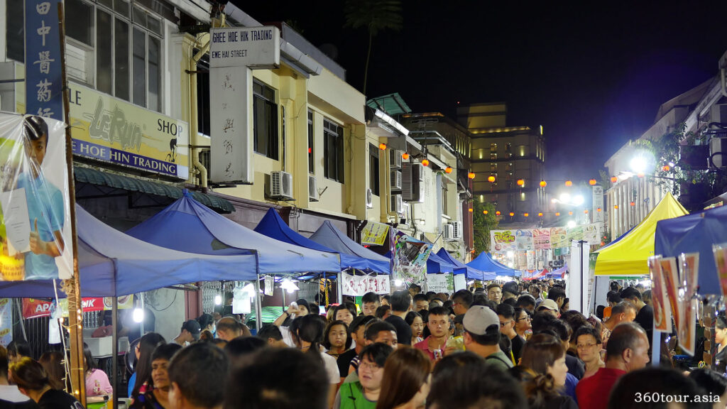 The Carpenter Street is packed with people during the festival