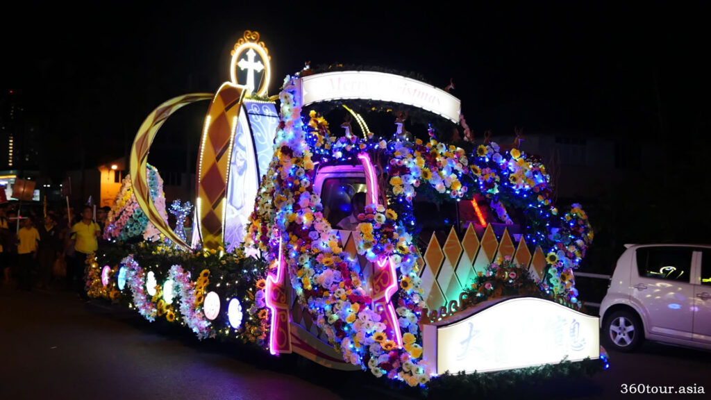 The Christmas Float featuring Crown Jewel