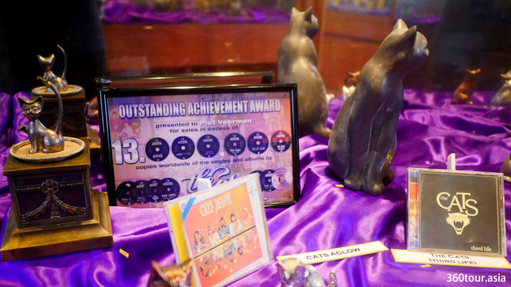 Outstanding achievements award presented to Piet Veerman for sales in excess of 13,000,000 copies worldwide of the singles and albums by The Cats.