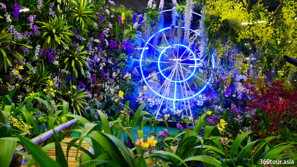 The Orchid Landscape by Orchid Society of South East Asia from Singapore, featuring a fairy wheel.