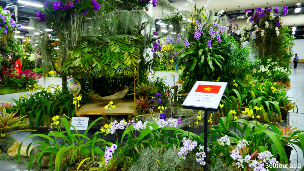 The Orchid Landscape by Tuan Nguyen Nursery from Vietnam, featuring the orchid rest house.