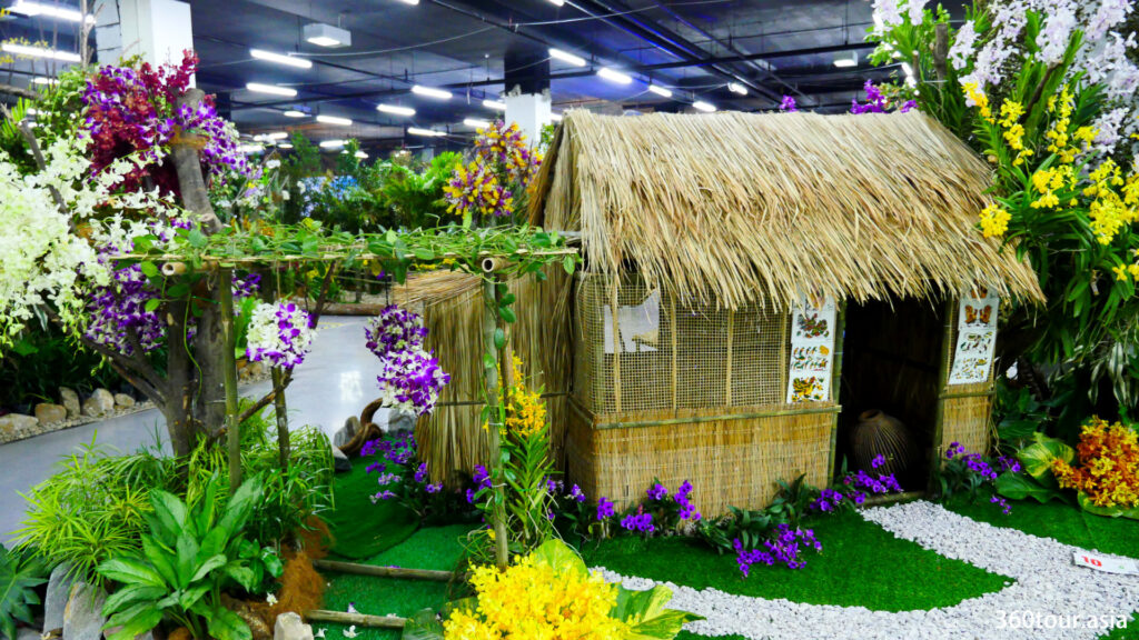 来自越南的Ngoc Tu Orchid有限公司的兰花景观,以稻草小屋和兰花园为特色