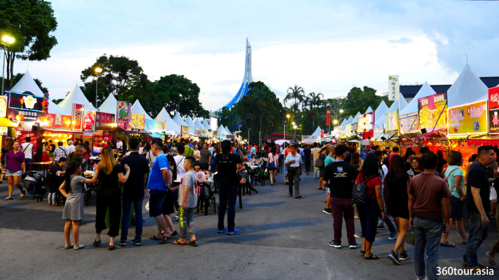 A view from the main entrance of Kuching Festival Fair.