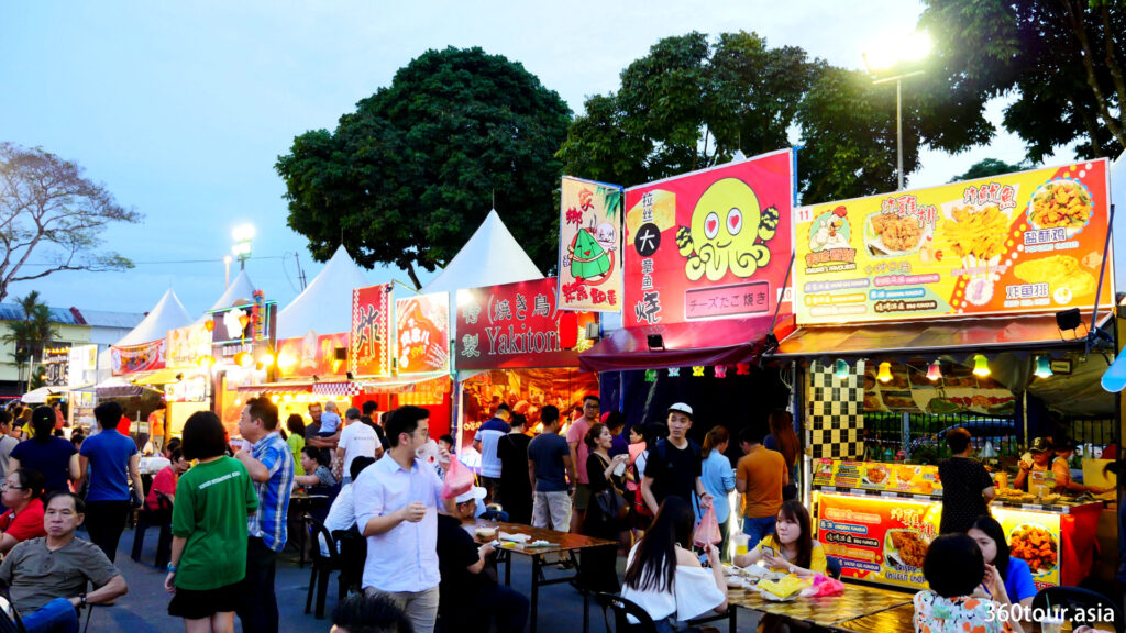The stalls at Kuching Festival Fair.