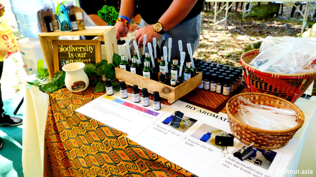 Learn about Aroma therapy at the Sarawak Biodiversity booth.
