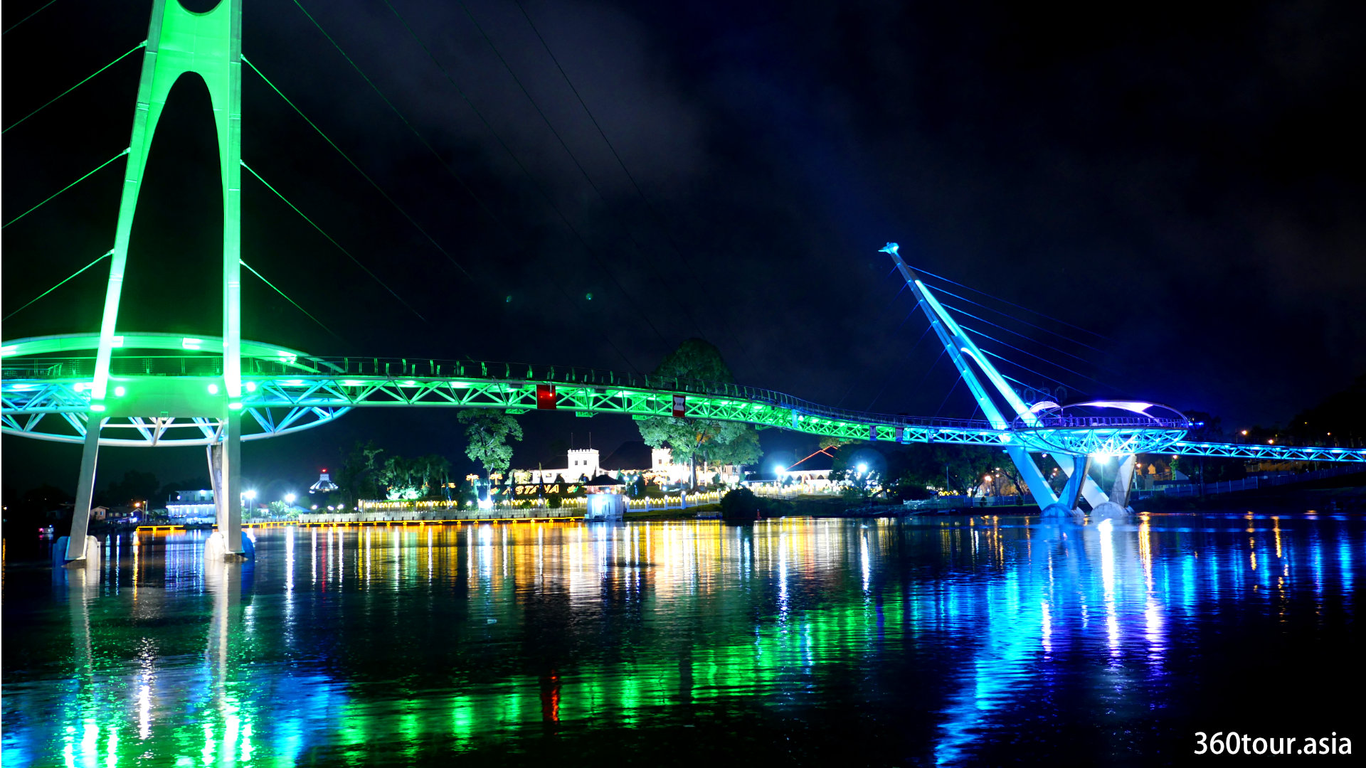 Darul Hana Bridge of Kuching Waterfront